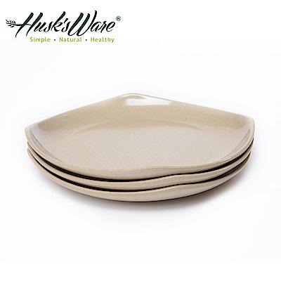 美國Husk's ware稻殼天然無毒環保四方淺盤9吋(3入組)