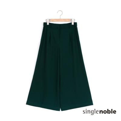獨身貴族 慵懶簡約寬版素色八分褲(2色)