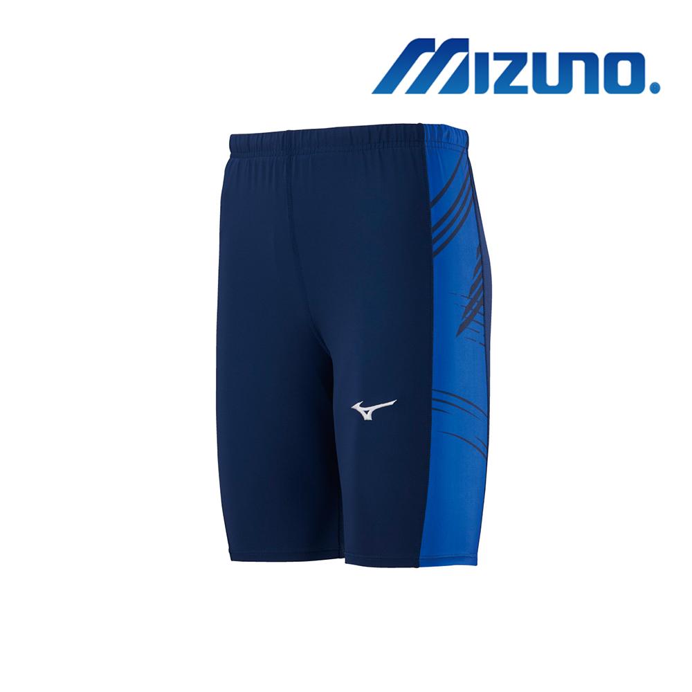 MIZUNO 緊身褲(中長型) 深丈青 U2TB9G0214