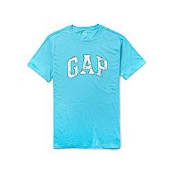 GAP 熱銷經典文字短袖T恤-水藍色