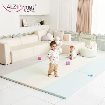 【ALZiPmat】韓國手工製 時尚經典四折折疊墊 - 經典時尚藍