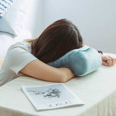樂嫚妮 午睡枕/趴睡枕/頸枕/靠枕墊-海水藍