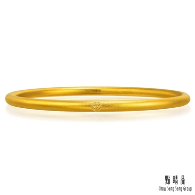 【點睛品】足金9999 經典實心 黃金手環/手鐲_計價黃金