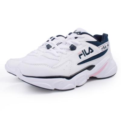 【FILA】HIDDEN TAPE  運動鞋 老爹鞋 女鞋-白(5-J329U-135)