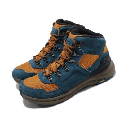 Merrell 戶外鞋 Ontario 85 Mesh WP 男鞋 登山 越野 耐磨 黃金大底 防水 避震 藍 黃 ML034955
