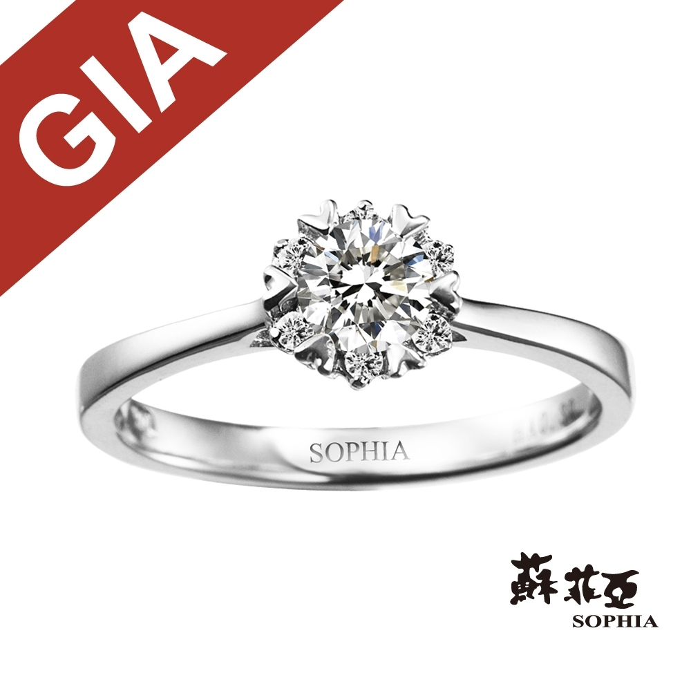 蘇菲亞SOPHIA 求婚戒-GIA 費洛拉0.30克拉DSI1鑽戒