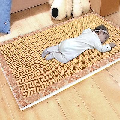 凱蕾絲帝-台灣製造-加厚挑高御皇三D透氣專利柔藤涼墊-嬰兒蓆( 70 X 130 )