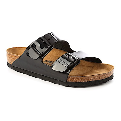 勃肯BIRKENSTOCK1005291。ARIZONA亞利桑那經典二條拖鞋(黑)