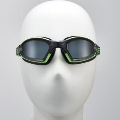 聖手牌 泳鏡 一體成型後扣式頭帶平光防霧泳鏡(綠色)