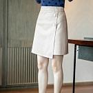 設計所在Lady-PU皮短裙高腰A字西裝裙(二色M-2XL可選)