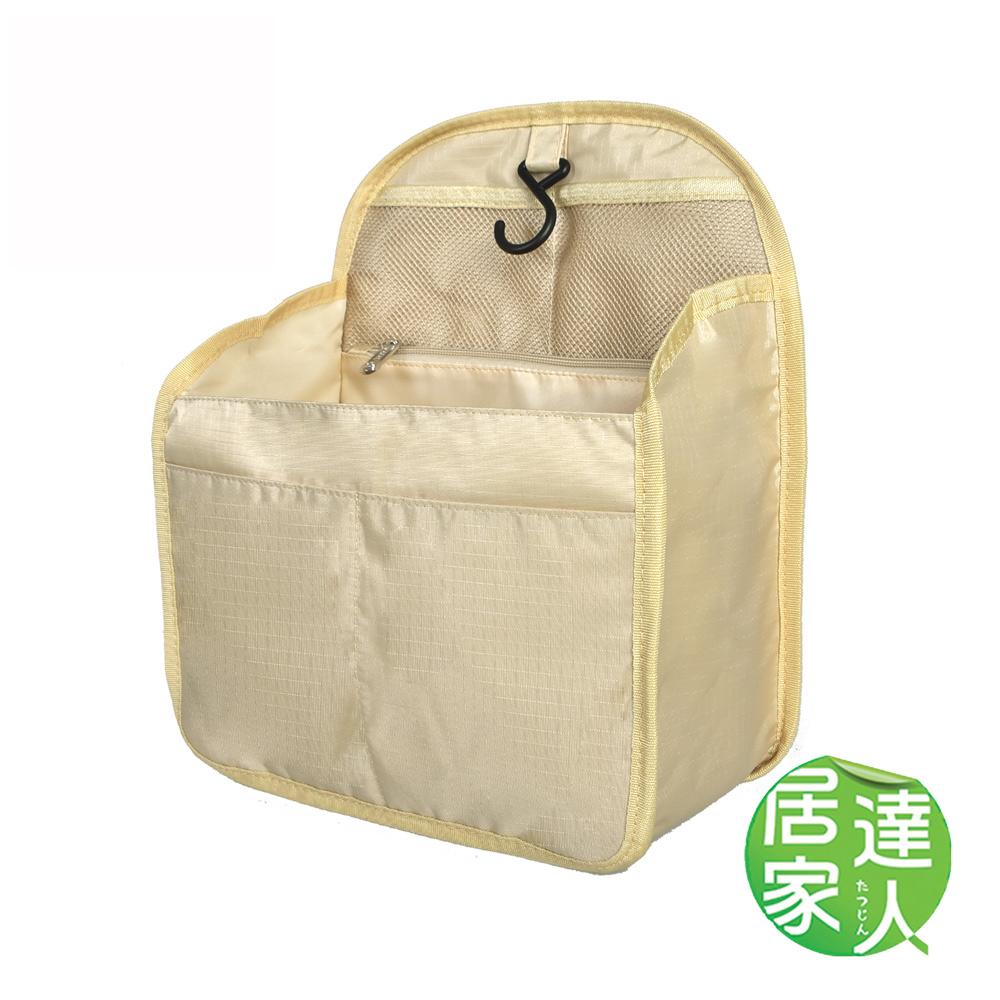 居家達人 可掛式多層收納袋/內襯袋 (卡其-L)