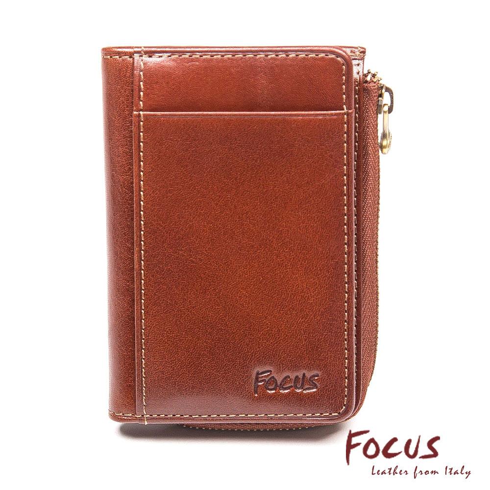 FOCUS經典原皮商務卡夾零錢包(FTB1188)