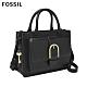 FOSSIL WILEY 真皮復古美型手提側背包-黑色  ZB7958001 product thumbnail 2