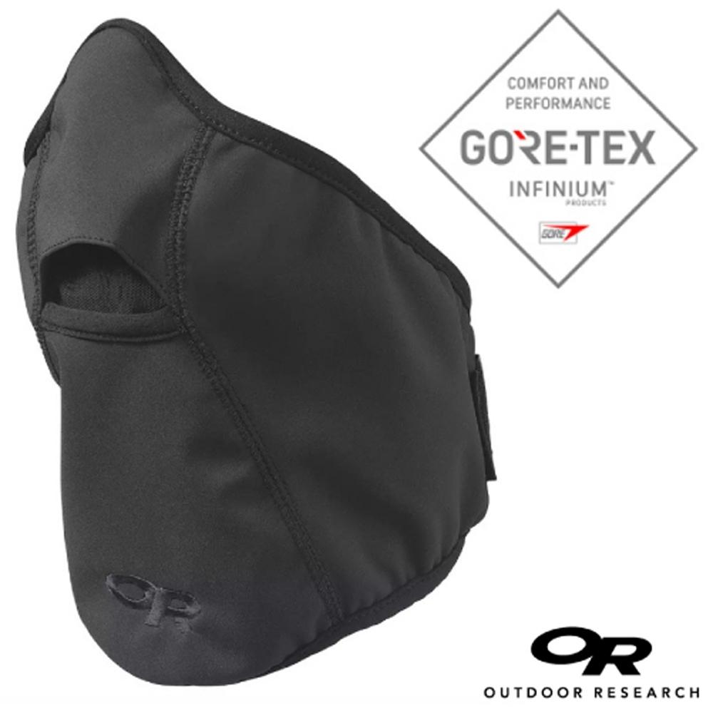Outdoor Research GORE-TEX INFINIUM  WINDSTOPPER 防風透氣護頸保暖帽.搶匪帽.騎士帽_黑