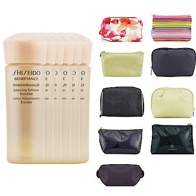 SHISEIDO資生堂 盼麗風姿抗皺24豐潤柔軟水25ml*6(贈化妝包-隨機出貨)