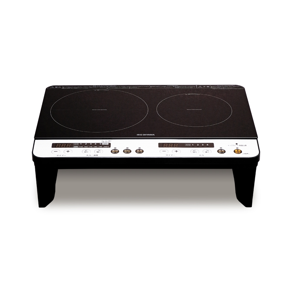 日本 IRIS 2口IH免安裝調理爐 IHKW12 有架高收納版