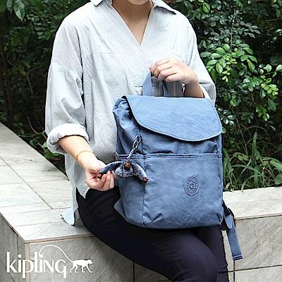 Kipling 後背包 紫羅蘭灰素面-中