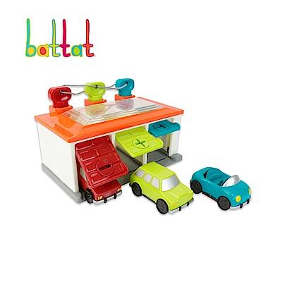 美國【B.Toys】藍綠紅車庫_Battat系列