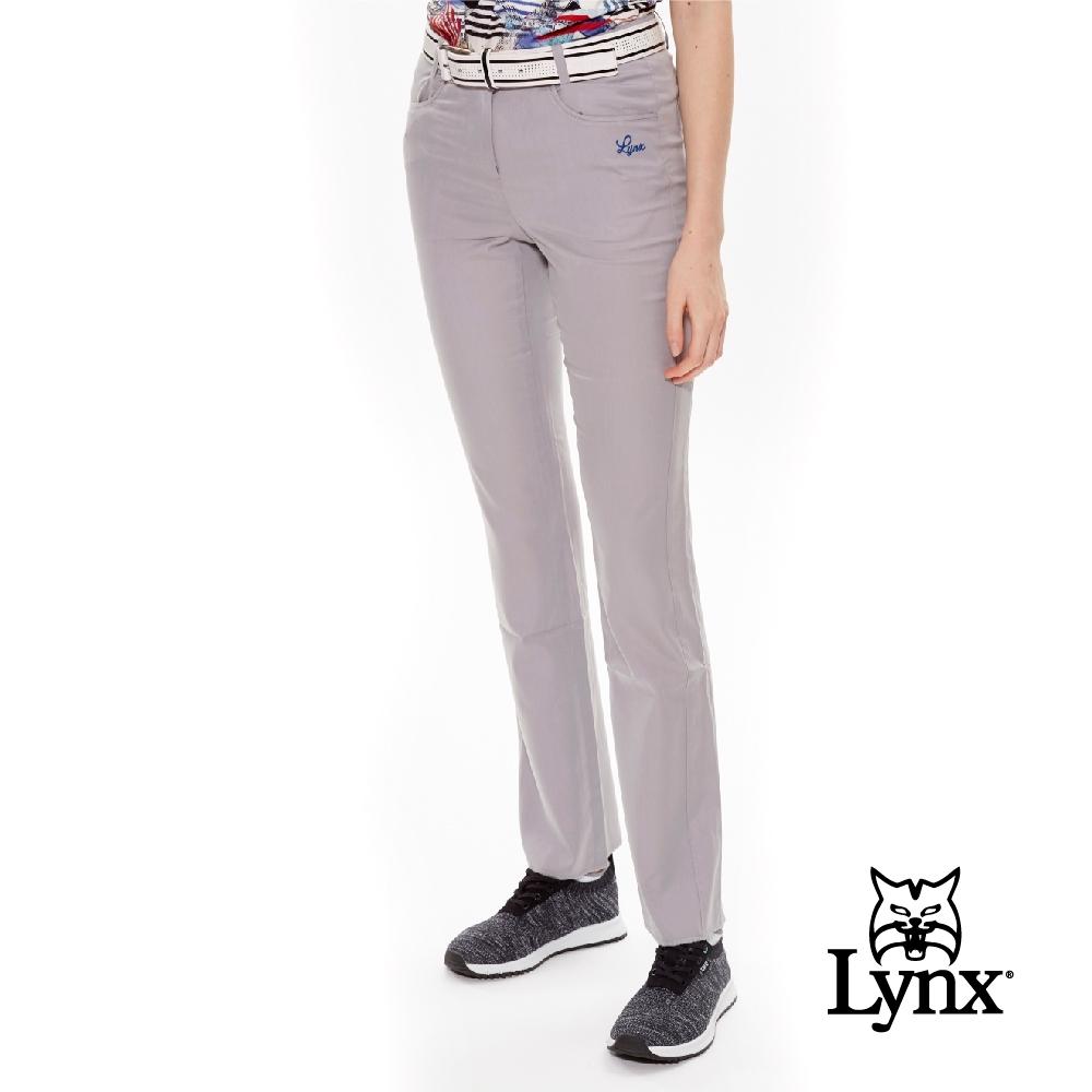 【Lynx Golf】女款天絲棉親膚涼感休閒長褲-灰色