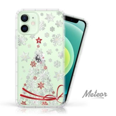Meteor iPhone 12 mini 5.4吋 奧地利水鑽殼 - 緞帶聖誕樹(多鑽版)