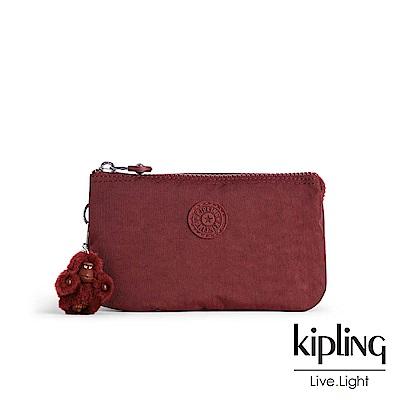 Kipling高雅酒紅渲染配件零錢包(中)