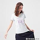 GIORDANO 女裝可愛貓咪印花純棉T恤-01 寶貝藍