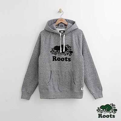 Roots 男裝-經典連帽上衣-灰