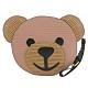 MOSCHINO 瓦楞風大熊臉造型拉鍊零錢包 product thumbnail 1