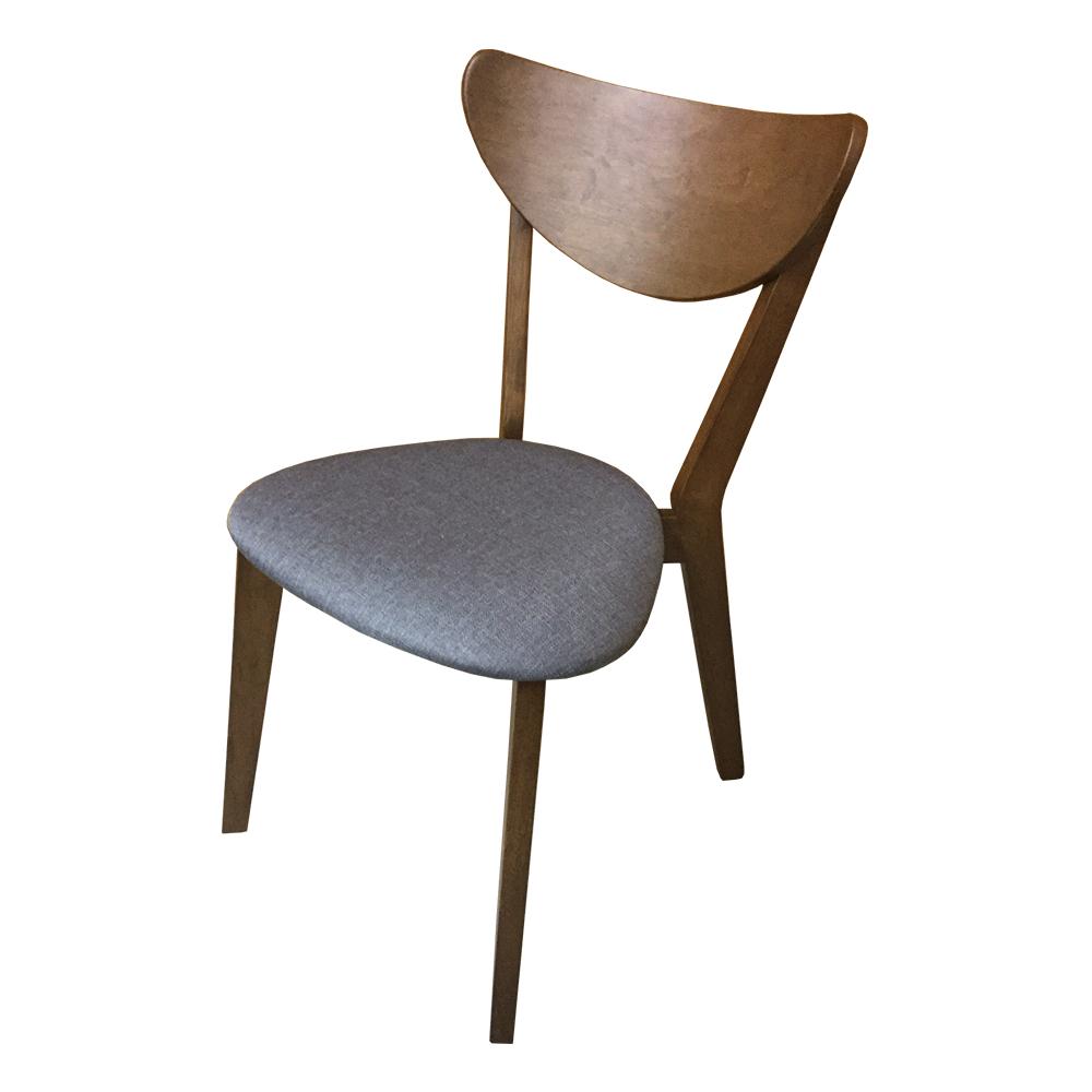 AS-April灰色布面實木餐椅45x50x80cm