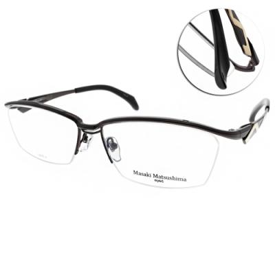 Masaki Matsushima眼鏡 日系工藝流線款/紅金-黑 #MMF1228 C05