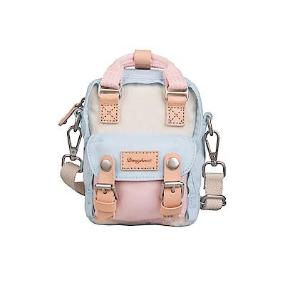 【IBAOBAO愛包包】Doughnut 馬卡龍Tiny側背包 - 雪藍櫻花