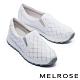 休閒鞋 MELROSE 率性迷人璀璨晶鑽全真皮厚底休閒鞋-白 product thumbnail 1