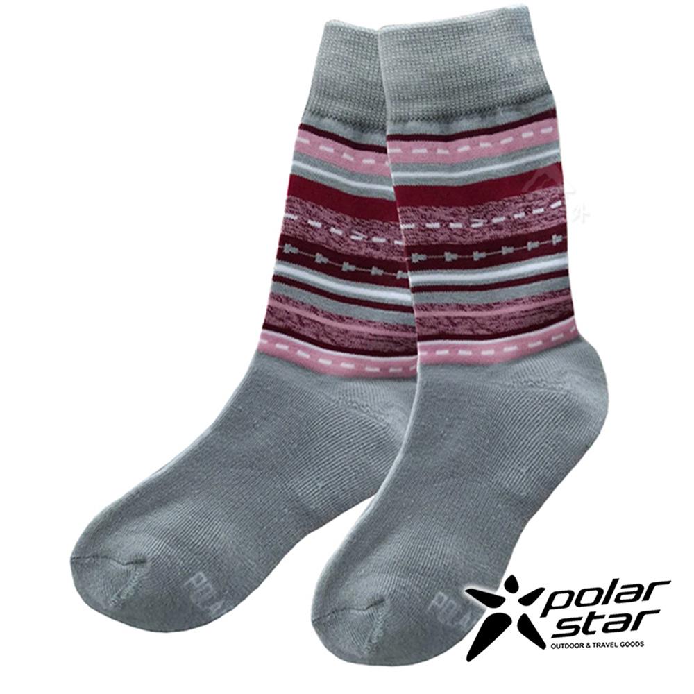 【PolarStar】美麗諾羊毛保暖襪『淺灰』(2入組) P18634