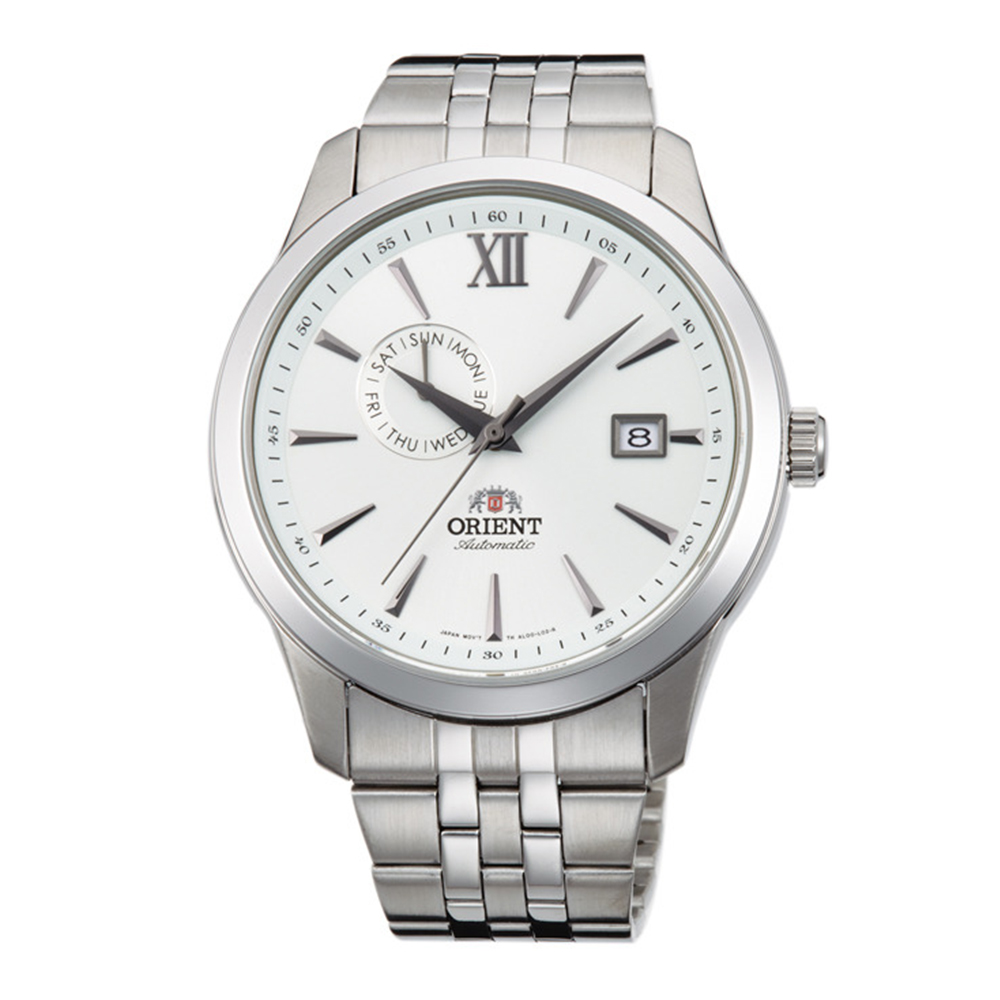ORIENT 流轉歲月鏤空錶背機械男錶(FAL00003W0)-白/42mm