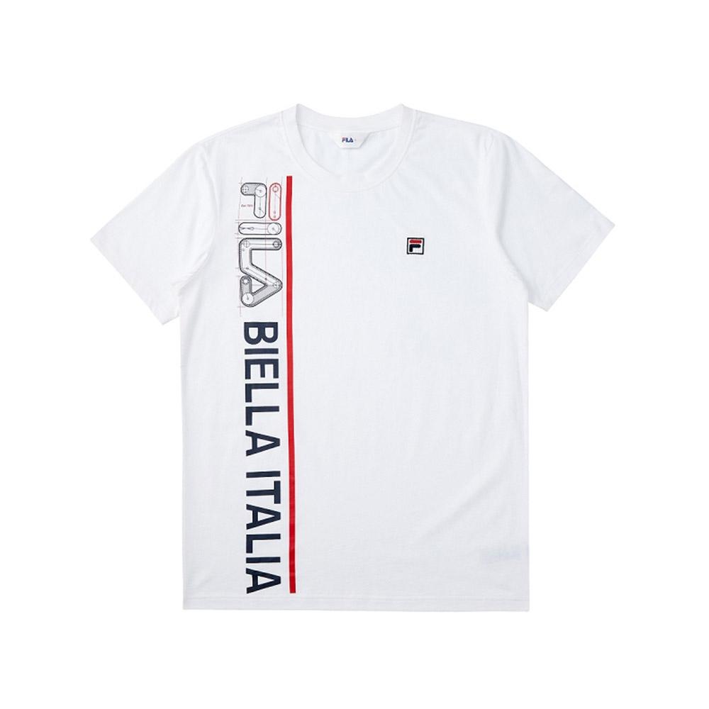 FILA 短袖圓領T恤合身版-白色 1TEV-1517-WT