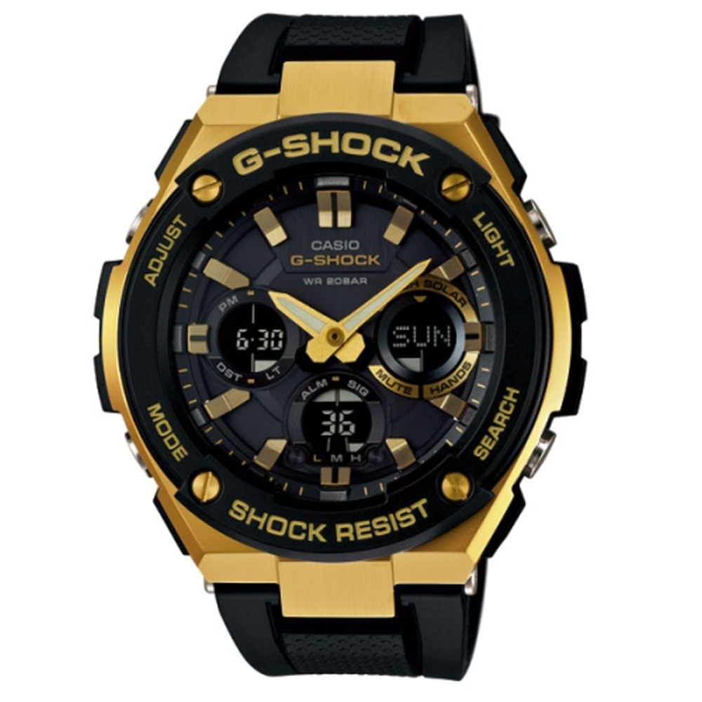 CASIO G-SHOCK 突破自我強悍有力運動腕錶/GST-S100G-1ADR