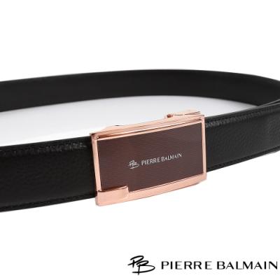 PB皮爾帕門 玫金方框紳士自動扣皮帶(710)
