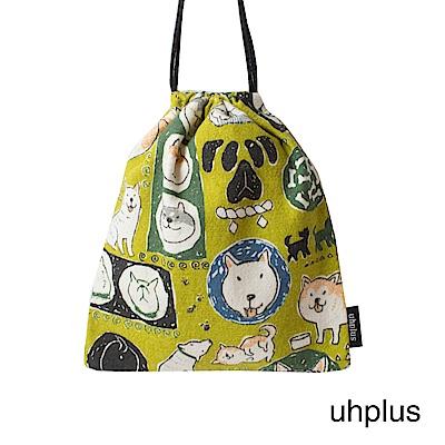 uhplus 迷你束口袋-小萌柴日記(芥末綠)