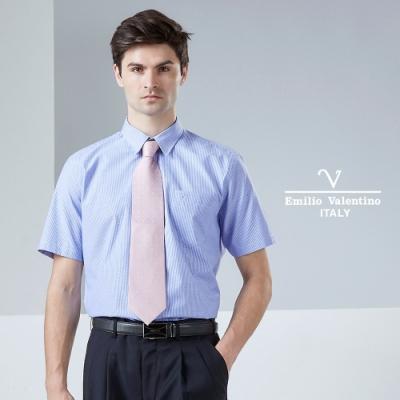 Emilio Valentino 范倫鐵諾 沉穩大器立挺條紋襯衫_藍(30-9H2537)
