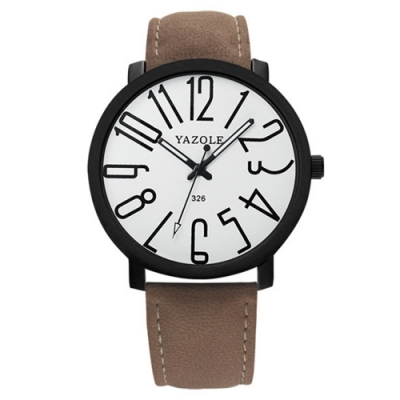 YAZOLE 亞卓倫326-快樂學園-大數字錶盤休閒風手錶