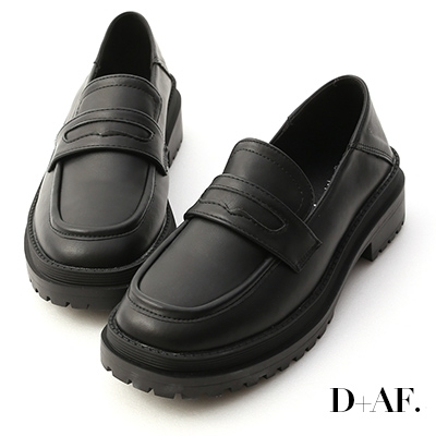 D+AF 發燒精選.可後踩鬆糕底樂福鞋*黑