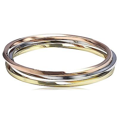 CALVIN KLEIN Exclusive 系列三環三色亮麗時尚手環-S
