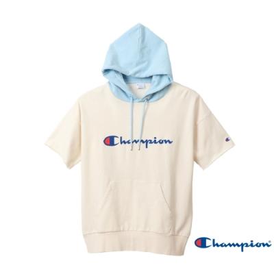 Champion Campus連帽草寫Logo短Tee(白色)