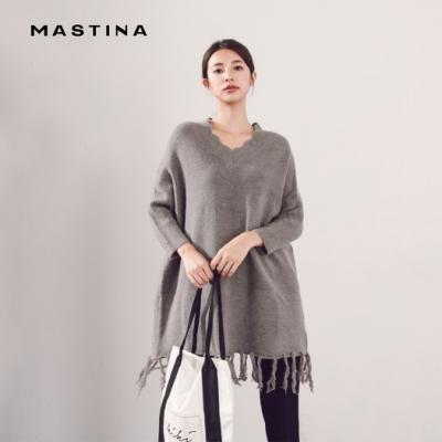 【MASTINA】寬鬆衣襬設計款-針織衫(三色)