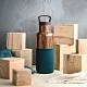 HYDY時尚水瓶CinCin Deco系列 孔雀綠-木紋 不鏽鋼保溫瓶480ml product thumbnail 1