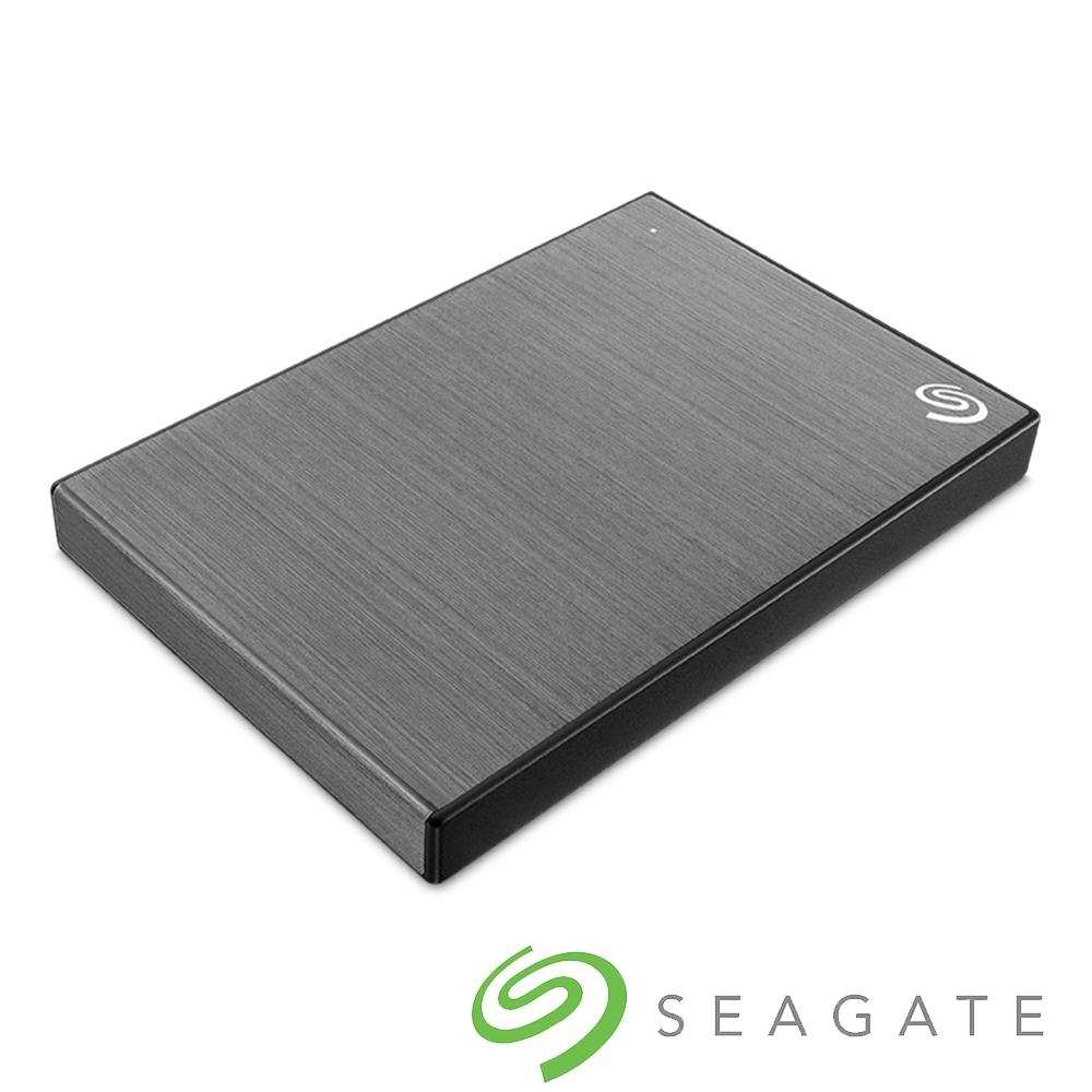 Seagate Backup Plus Slim 2TB 2.5吋 外接硬碟-銀河灰