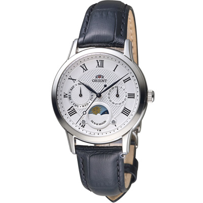 ORIENT 東方錶  日月星辰時尚錶(RA-KA0006S)白