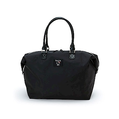 Sanrio HELLO KITTY Longchamp風經典尼龍旅用大提袋(黑)
