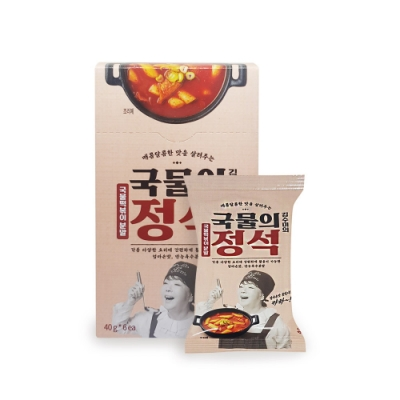 【韓味不二】金守美辣炒年糕調味粉(40g*6包/盒)