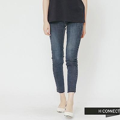 H:CONNECT 韓國品牌 女裝-素面百搭緊身牛仔褲-藍